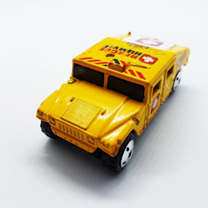 1994 Yellow Matchbox Hummer Rescue Humvee| Mattel Special Edition Toy Car - Vintage Radar