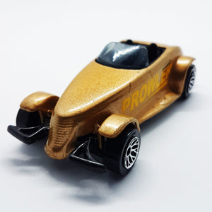 RARE Matchbox Chrysler Antique Toy Car | Metallic Gold 1995 Plymouth Prowler - Vintage Radar