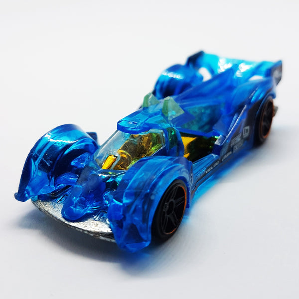 2014 Hot Wheels Hi-Tech Missile | HW X-Raycers Blue Diecast Vehicle - Vintage Radar