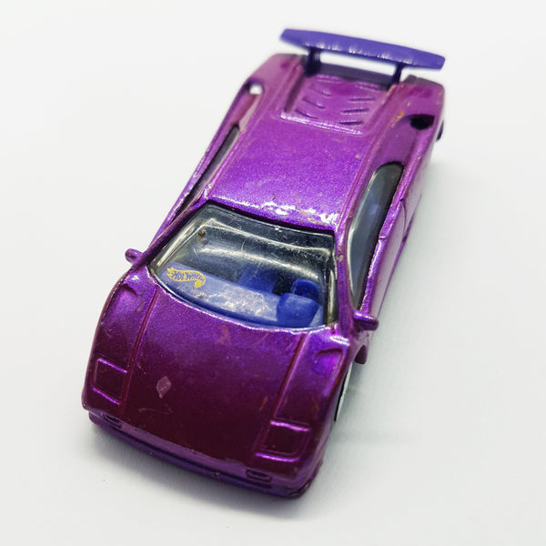 Purple Hot Wheels Vintage Sports Car | 1990 Mattel Die-Cast Miniature Gift Car - Vintage Radar