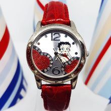 Load image into Gallery viewer, Betty Boop Character Watch | Red Vintage Gift Watch For Women - Vintage Radar