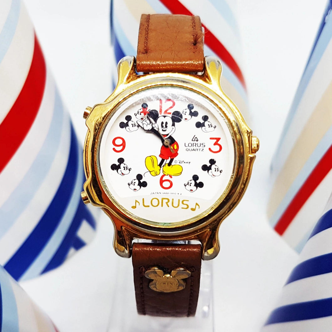 Lorus Disney Musical Mickey Mouse Watch | Vintage Disney Watch For Men - Vintage Radar