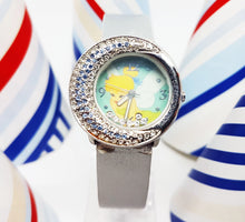 Load image into Gallery viewer, Blue Disney Princess Vintage Watch for Women | Tinkerbell Fairy Disneyland Watch - Vintage Radar