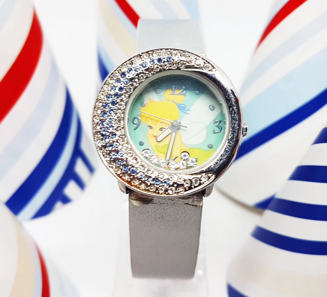Blue Disney Princess Vintage Watch for Women | Tinkerbell Fairy Disneyland Watch - Vintage Radar