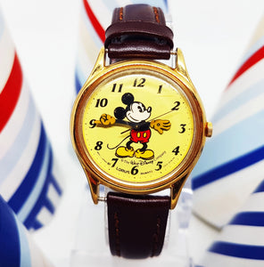 Rare Lorus Mickey Mouse v515 6118 HR Watch | Disney Lorus Vintage Watch - Vintage Radar