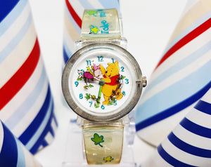 Disney Winnie The Pooh and Piglet Watch | Timex Disney Vintage Watch For Women - Vintage Radar