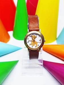 Vintage Disney Timex The Lion King Watch | Gold-Tone Simba Character Disney Watch - Vintage Radar