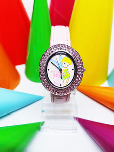 Pink Tinkerbell Fairy Disneyland Watch | Disney Princess watch for women - Vintage Radar