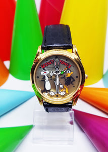 Armitron Looney Tunes Sports Watch for Men | Bugs Bunny Mens Large Character Watch - Vintage Radar
