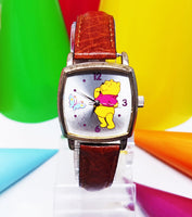 Square Winnie The Pooh Seiko Watch | Disney Special Edition Vintage Watch For Men and Women - Vintage Radar