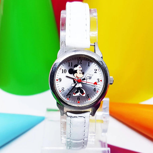 Raro Minnie Mouse Nurse Seiko Watch | Pequeño reloj retro blanco de edición limitada de Disney - Radar vintage