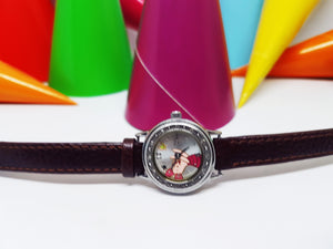 Piglet Disney by Seiko Tiny Vintage Watch | Winnie the Pooh Silver-Tone Character Watch - Vintage Radar