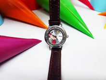 Load image into Gallery viewer, Piglet Disney by Seiko Tiny Vintage Watch | Winnie the Pooh Silver-Tone Character Watch - Vintage Radar
