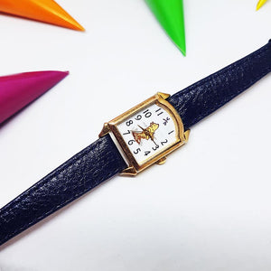 Rare Winnie The Pooh Square Watch For Women | Classic Pooh Timex Christmas Gift Watch - Vintage Radar