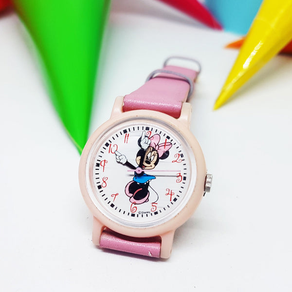 Minnie Mouse Disney Ladies Watch | Small Pink Authentic Seiko Vintage Watch - Vintage Radar
