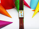 Rare Winnie The Pooh Square Watch | Vintage Disney Watch by Timex - Vintage Radar