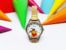 Load image into Gallery viewer, Elegant Winnie The Pooh Seiko Watch | Disney Rotating Honey Bees Gold-Tone Vintage Watch - Vintage Radar