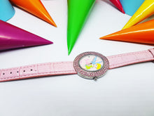 Load image into Gallery viewer, Pink Tinkerbell Fairy Disneyland Watch | Disney Princess watch for women - Vintage Radar