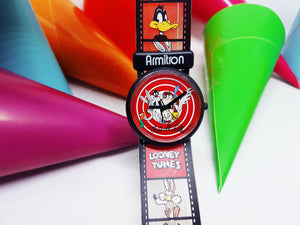 Armitron Looney Tunes Characters Watch | Rare Red And Black Vintage Gift Watch - Vintage Radar