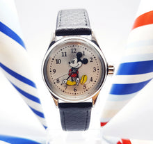 Load image into Gallery viewer, Ingersoll Mickey Mouse Watch | Silver-Tone Disney Quartz Watch For Him - Vintage Radar