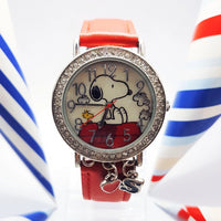 Peanuts Red Snoopy Character Watch |  Vintage Cartoon Lucky Charm Watch - Vintage Radar