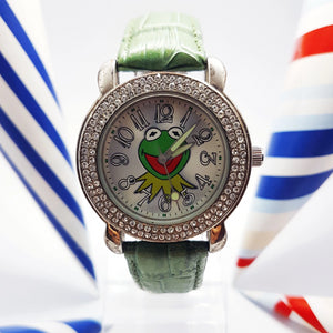 Green Kermit The Frog Disney Watch | Th Muppets Silver-Tone Vintage Watch - Vintage Radar