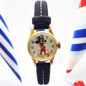Mechanical Mickey Mouse Disney Watch | Tiny Antique Swiss Made Ladies Watch - Vintage Radar