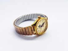 Load image into Gallery viewer, Gold-Tone Mickey Mouse Bradley Watch | Luxurious Cocktail Dress Wacth - Vintage Radar