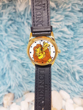 Load image into Gallery viewer, The Lion King Disney Gift Watch | Simba and Mufasa Vintage Gold Tone Watch - Vintage Radar