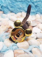 Lorus Mickey Mouse V501-X075 Watch | 90s Mickey Ears face Gold Watch - Vintage Radar