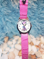 Tiny Minnie Mouse Disney Watch For Women | Pink Walt Disney World Watch - Vintage Radar