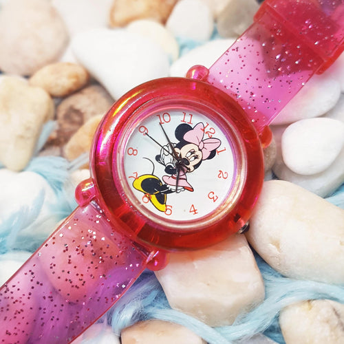 Pink Minnie Mouse Disney Watch Watch Fashion Vintage Watch - Vintage Radar