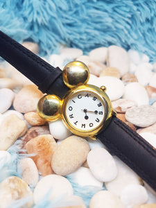 Vintage Disney Mickey Mouse Watch | Gold-Tone Quartz Watch - Vintage Radar