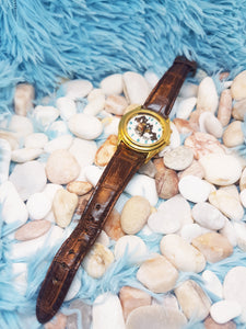 Vintage Armitron Tasmanian Devil Watch |  Looney Tunes Gold Tone Character Watch - Vintage Radar