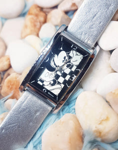 Rare Mickey Mouse Disney Watch | JAZ Square Vintage Christmas Gift Watch - Vintage Radar