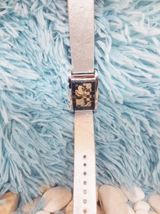 Rare Mickey Mouse Disney Watch | Square Vintage Christmas Gift Watch - Vintage Radar