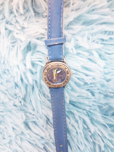 Seiko Tinkerbell Fairy Watch | Blue Disney Princess Watch - Vintage Radar