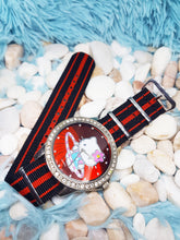 Load image into Gallery viewer, Big Hello Kitty Vintage Watch | Red And Silver Tone Character Watch - Vintage Radar