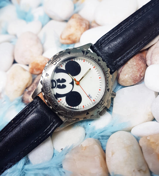 Mickey Mouse Disney Watch For Men | Silver-Tone Vintage Gift Watch - Vintage Radar