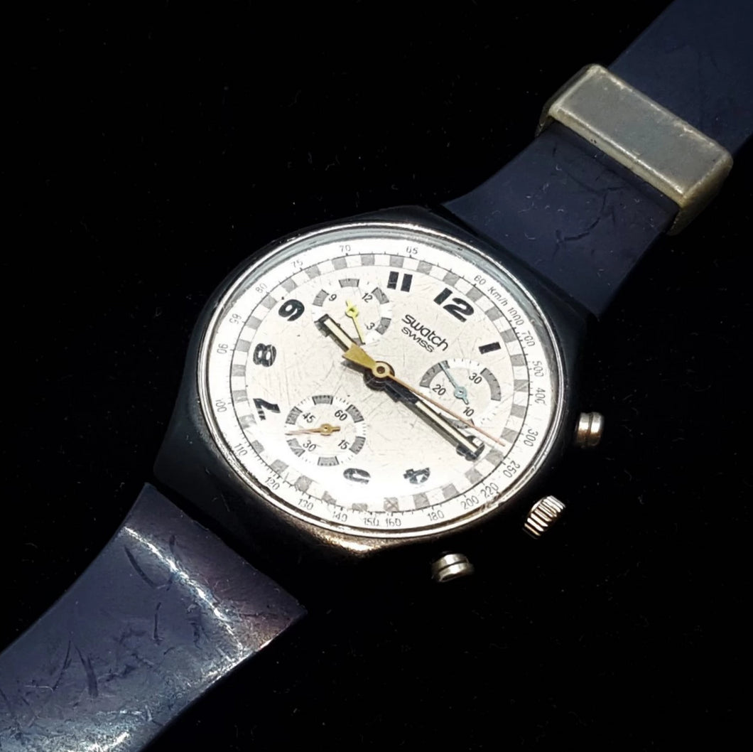 1990 SKATE BIKE SCB105 Chronograph Watch | Vintage Swiss Watch - Vintage Radar