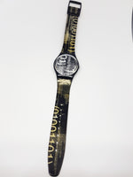 CODING GB172 1999 Vintage Swatch Watch | Black Swatch Watches - Vintage Radar