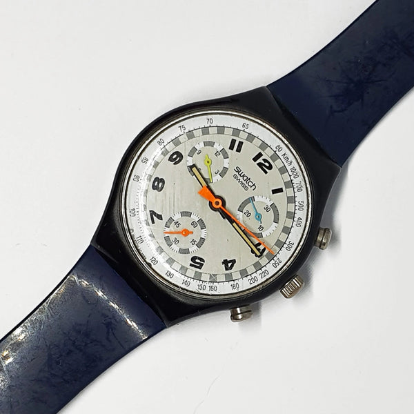1990 SKATE BIKE SCB105 Chronograph Swatch Watch | Vintage Swiss Watch - Vintage Radar