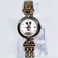 Luxury Two-Tone Seiko MU0829 Mickey Mouse Watch | SII Marketing International - Vintage Radar