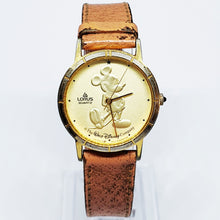 Load image into Gallery viewer, Gold-Tone Lorus Mickey Mouse Quartz Watch | Walt Disney Company Watch - Vintage Radar