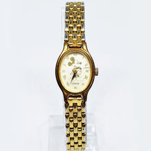 Load image into Gallery viewer, Tiny Lorus Gold-tone Mickey Mouse Watch | Disney Gift Watch For Women - Vintage Radar