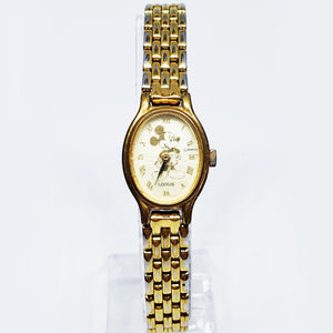 Tiny Lorus Gold-tone Mickey Mouse Watch | Disney Gift Watch For Women - Vintage Radar