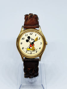 Gold-tone Mickey Mouse Lorus Vintage Watch | The Walt Disney Company - Vintage Radar