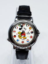Load image into Gallery viewer, Musical Lorus Mickey Mouse Watch | World Flags V421-0020 Lorus Watch - Vintage Radar