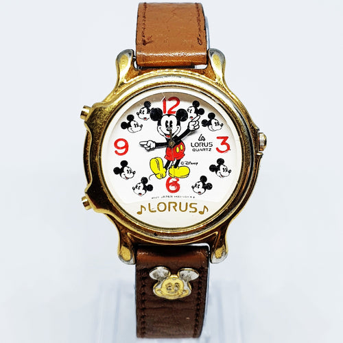 1990 Musical Mickey Mouse Lorus Watch | Lorus by Seiko Quartz V422-0011 R2 Watch - Vintage Radar