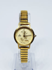 Lorus Gold Coin Mickey Mouse Watch | Vintage Disney Mickey Mouse Watch - Vintage Radar
